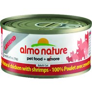 Almo Nature Legend 100% Natural Chicken with Shrimps Adult Grain-Free Canned Cat Food, 2.47-oz, case of 24