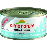 Almo Nature Legend 100% Natural Mixed Seafood Adult Grain-Free Canned Cat Food, 2.47-oz, case of 24