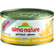 Almo Nature Legend 100% Natural Salmon and Chicken Adult Grain-Free Canned Cat Food, 2.47-oz, case of 24