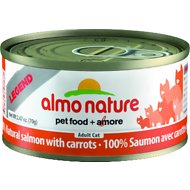 Almo Nature Legend 100% Natural Salmon with Carrots Adult Grain-Free Canned Cat Food, 2.47-oz, case of 24