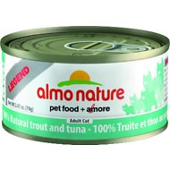 Almo Nature Legend 100% Natural Trout and Tuna Adult Grain-Free Canned Cat Food, 2.47-oz, case of 24
