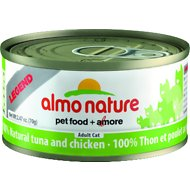 Almo Nature Legend 100% Natural Tuna and Chicken Adult Grain-Free Canned Cat Food, 2.47-oz, case of 24