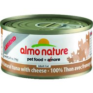 Almo Nature Legend 100% Natural Tuna with Cheese Adult Grain-Free Canned Cat Food, 2.47-oz, case of 24