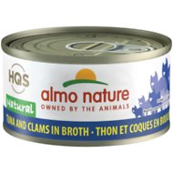 Almo Nature Legend 100% Natural Tuna with Clams Adult Grain-Free Canned Cat Food, 2.47-oz, case of 24