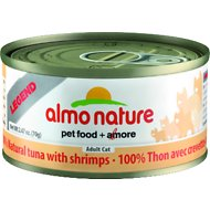 Almo Nature Legend 100% Natural Tuna with Shrimps Adult Grain-Free Canned Cat Food, 2.47-oz, case of 24
