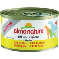 Almo Nature Legend Chicken Fillet Adult Grain-Free Canned Dog Food, 3.35-oz, case of 24
