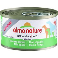 Almo Nature Legend Tuna and Chicken Adult Grain-Free Canned Dog Food, 3.35-oz, case of 24