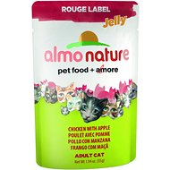 Almo Nature Rouge Label Jelly Chicken with Apple Cat Food Pouches, 1.94-oz, case of 24