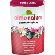 Almo Nature Rouge Label Tuna and Lobster Adult Grain-Free Cat Food Pouches, 1.94-oz, case of 24