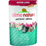 Almo Nature Rouge Label Jelly Tuna and Sole Cat Food Pouches, 1.94-oz, case of 24