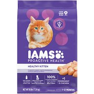 Iams ProActive Health Kitten Dry Cat Food, 16-lb bag