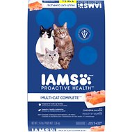 Iams ProActive Health Multi-Cat with Chicken & Salmon Dry Cat Food, 16-lb bag