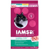Iams ProActive Health Mature Adult Hairball Care Dry Cat Food, 16-lb bag