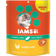Iams ProActive Health Hairball Care Chicken Flavor Daily Cat Treats, 5.5-oz bag