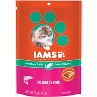 Iams ProActive Health Hairball Care Salmon Flavor Daily Cat Treats, 2.47-oz bag