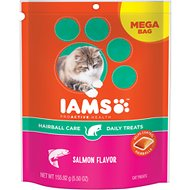Iams ProActive Health Hairball Care Salmon Flavor Daily Cat Treats, 5.5-oz bag