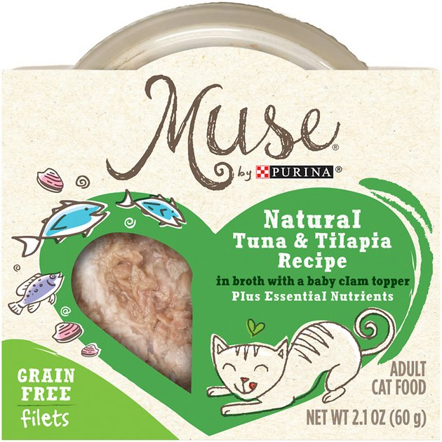 Purina muse natural tuna tilapia recipe in broth with a for Purina fish food
