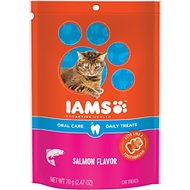 Iams ProActive Health Oral Care Salmon Flavor Daily Cat Treats, 2.47-oz bag