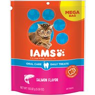 Iams ProActive Health Oral Care Salmon Flavor Daily Cat Treats, 5.5-oz bag