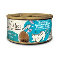 Purina Muse Natural Ocean Whitefish & Mackerel Recipe Pate Adult Grain-Free Canned Cat Food, 3-oz, case of 24