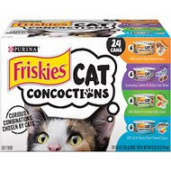 Friskies Cat Concoctions Variety Pack Canned Cat Food, 5.5-oz, case of 24