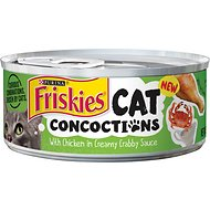 Friskies Cat Concoctions with Chicken in Creamy Crabby Sauce Canned Cat Food, 5.5-oz, case of 24