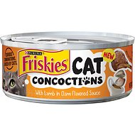 Friskies Cat Concoctions with Lamb in Clam Flavored Sauce Canned Cat Food, 5.5-oz, case of 24