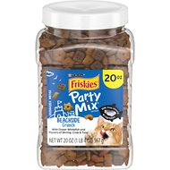 Friskies Party Mix Crunch Beachside Cat Treats, 20-oz jar