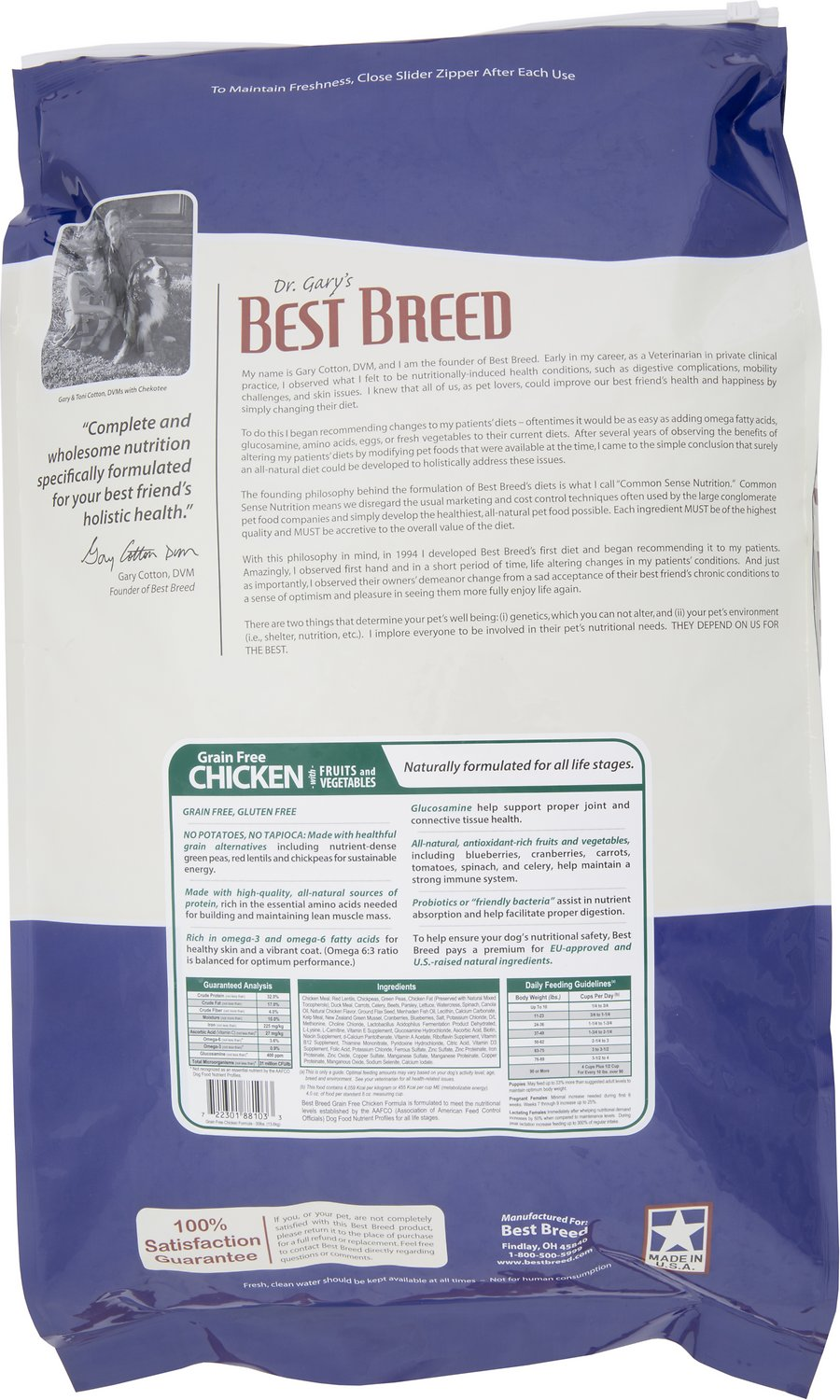 Dr Gary S Best Breed Holistic Grain Free Chicken With