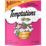 Temptations Blissful Catnip Flavor Cat Treats, 6.3-oz bag