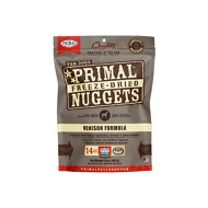 Primal Venison Nuggets Grain-Free Raw Freeze-Dried Dog Food, 14-oz bag