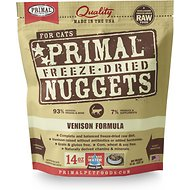 Primal Venison Nuggets Grain-Free Raw Freeze-Dried Cat Food, 14-oz bag