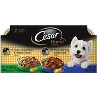 Cesar Home Delights Turkey & Pot Roast Multipack Dog Food Trays, 3.5-oz, case of 12