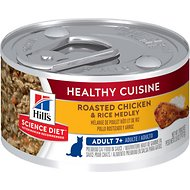 Hill's Science Diet Adult 7+ Healthy Cuisine Roasted Chicken & Rice Medley Canned Cat Food, 2.8-oz, case of 24