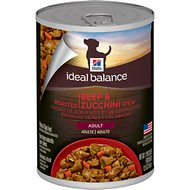 Hill's Ideal Balance Slow-Cooked Beef & Zucchini Stew Canned Dog Food, 12.5-oz, case of 12