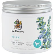 Dr. Harvey's Relax & Stress Herbal Dog Supplement, 7-oz tin