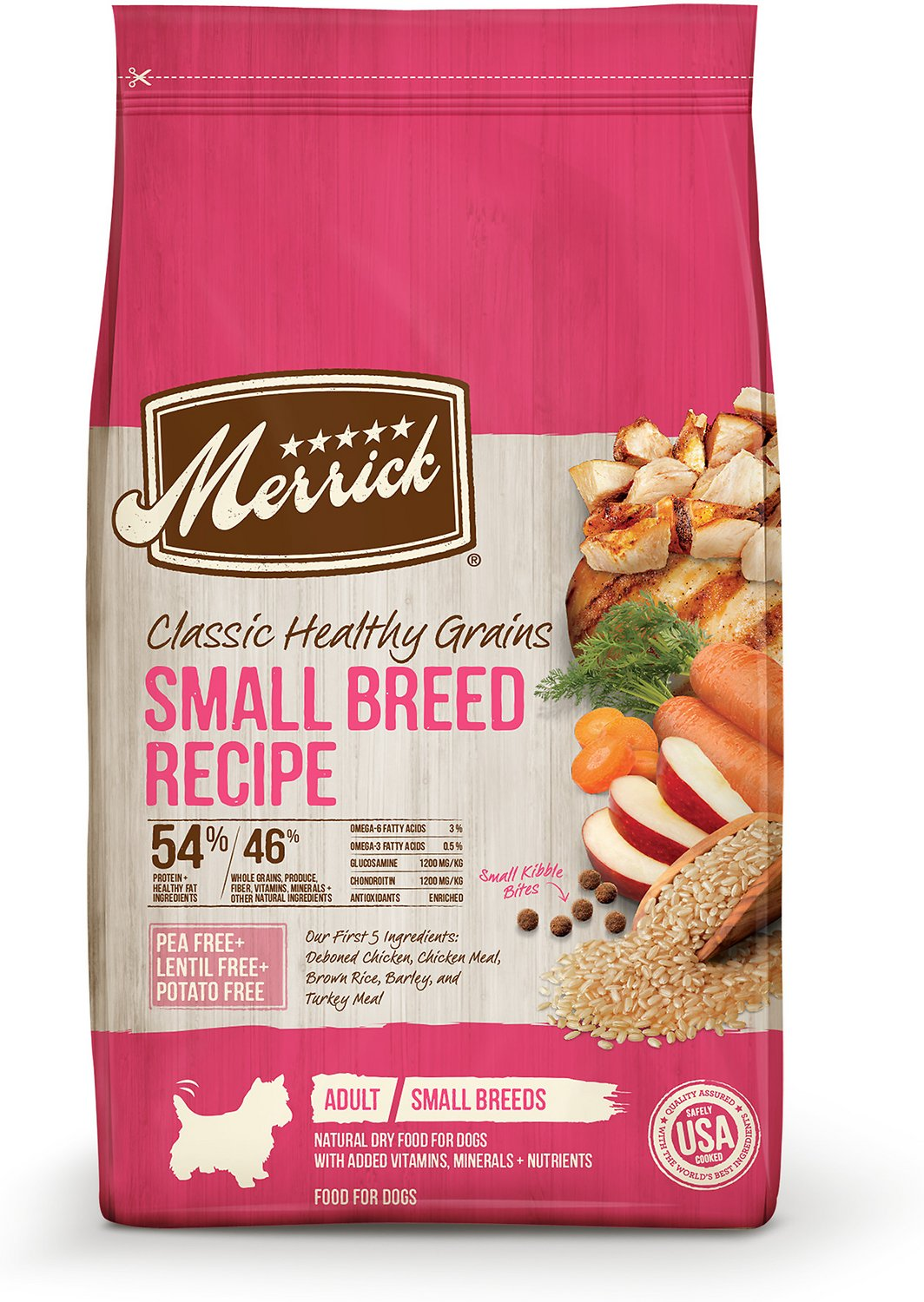 Merrick classic small breed recipe adult dry dog food 4 lb bag merrick classic small breed recipe adult dry dog food 4 lb bag chewy forumfinder Image collections