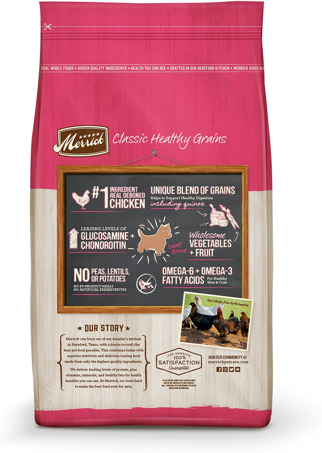 Merrick classic small breed recipe adult dry dog food 4 lb bag video nvjuhfo Image collections