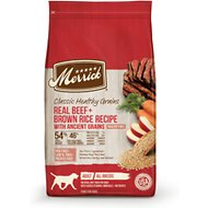 Merrick Classic Real Beef + Green Peas Recipe with Ancient Grains Adult Dry Dog Food, 25-lb bag
