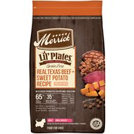 Merrick Lil' Plates Grain-Free Real Texas Beef + Sweet Potato Recipe Small Breed Dry Dog Food, 12-lb bag