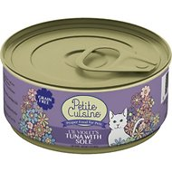 Petite Cuisine Lil' Violet's Tuna with Sole Grain-Free Canned Cat Food, 3-oz, case of 24