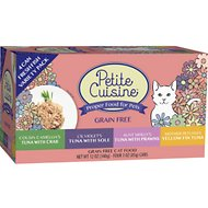 Petite Cuisine Seafood Variety Pack Grain-Free Canned Cat Food, 3-oz, case of 24