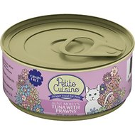 Petite Cuisine Aunt Molly's Tuna with Prawns Grain-Free Canned Cat Food, 3-oz, case of 24