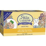 Petite Cuisine Mother Petunia's Yellow Fin Tuna Grain-Free Canned Cat Food, 3-oz, case of 4