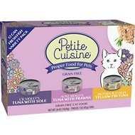 Petite Cuisine 3 Recipe Fresh Fish Variety Pack Grain-Free Canned Cat Food, 3-oz, case of 24