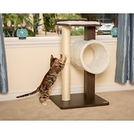 PetFusion Modern Activity Tree & Scratching Post for Cats, Brown