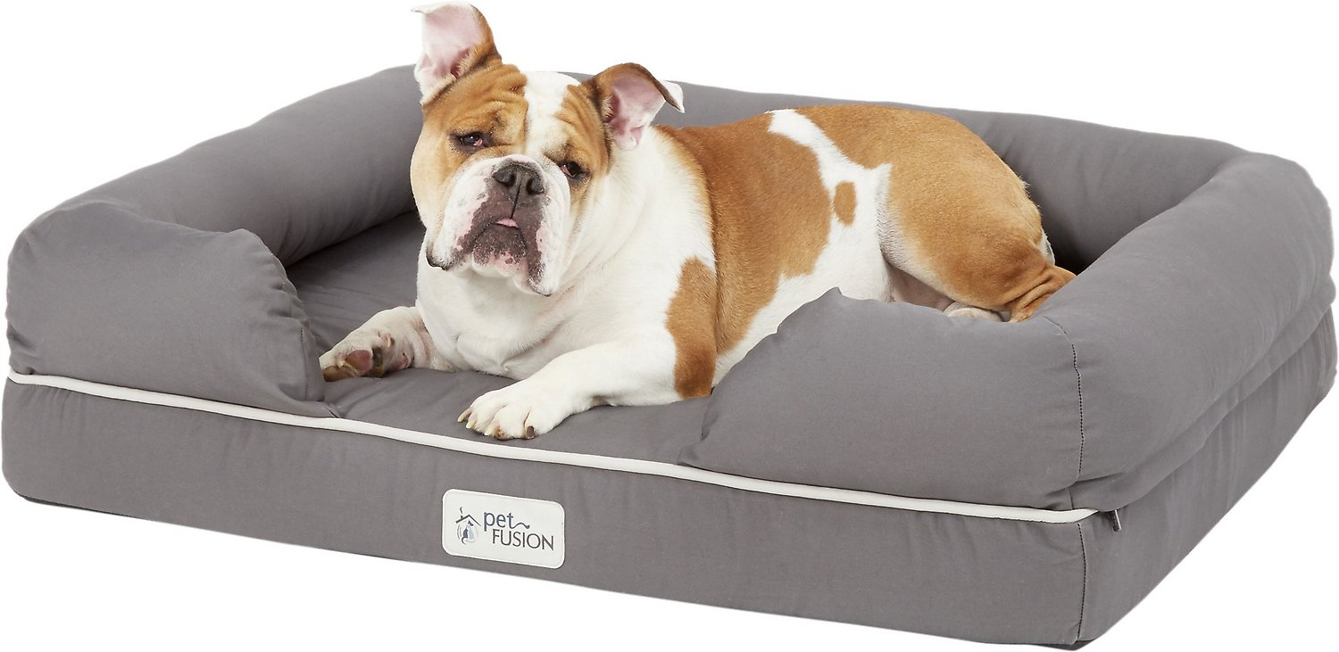 Petfusion Ultimate Lounge With Solid Memory Foam Dog Amp Cat