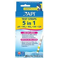 API 5 in 1 Aquarium Test Strips, 25-count