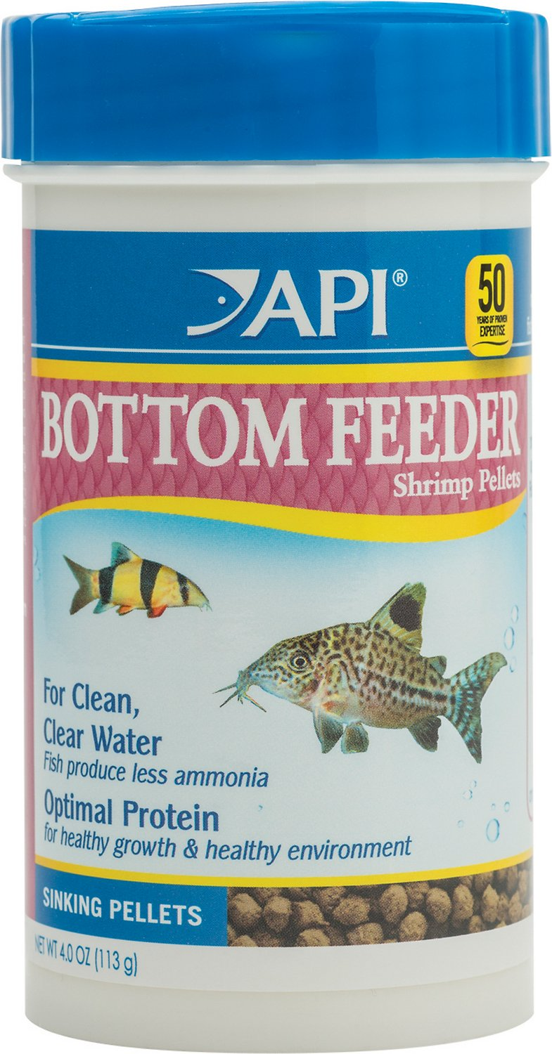 Api bottom feeder optimal protein sinking shrimp pellets for Bottom feeder fish list