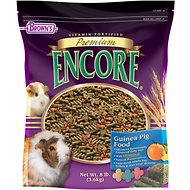 Brown's Encore Premium Guinea Pig Food, 8-lb bag